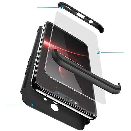 xinyunew Funda Xiaomi Mi Mix 2,360 Grados Protección Case + Pantalla de Cristal Templado,3 in 1 Anti-Arañazos Carcasa Case Caso Fundas teléfonos ...