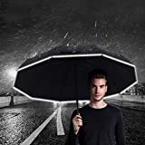 Travel Umbrella - Windproof, Reinforced Canopy, Ergonomic Handle, Reflecting at Night, Safer Auto Open/Close