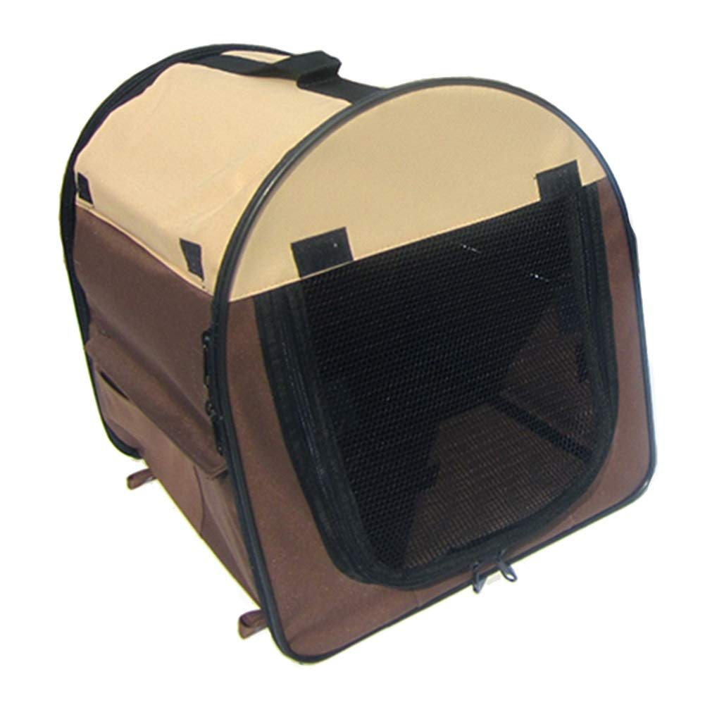 Brown 97×71×76cmPet Puppy Dog Playpen Exercise Pen Kennel, Soft Indoor Foldable Fence, Multiple Sizes and colors Available for Dogs, Cats and Other Pets (color   bluee, Size   81×56×66cm)