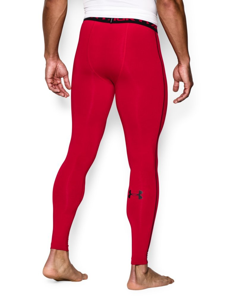 Under Armour Men's HeatGear Armour Compression Leggings, Red /Black, XX-Large by Under Armour (Image #2)
