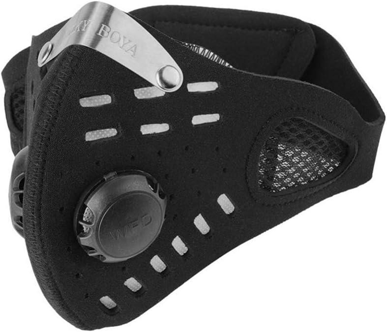 GUKOO Mascarilla Antipolvo PM 2.5 máscara Protección Carbón Activo máscara Deportes al Aire Libre Máscara Ciclismo contra
