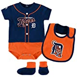 Detroit Tigers Tiny Player Creeper, Bib, and Bootie Set