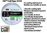 """3M Aluminum Foil Tape 3340, 2.5"""" x 50 yd, 4.0"""