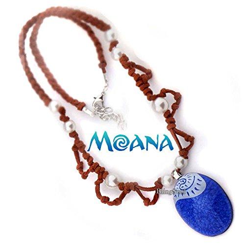 [BlingSoul Maui Moana Necklace Pendant Gifts - Blue Disney Moana Jewelry For Girls Womens] (Hawaiian Party Costume Ideas)