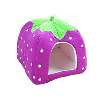 Xuxuou 1 Pieza Casas para Mascotas Interior para Perros Cama Mascota para Sofa Mantener el Calor en Invierno size 31 * 31 * 33cm (Púrpura M): Amazon.es: ...