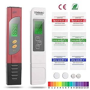 FORMIZON Tester PH/TDS & EC 4 in 1 Set, Tester Qualità Acqua Misuratore della Qualità dell'Acqua Digitale Misuratore… 51vcmGQ%2B9bL. SS300