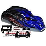Traxxas Blue Skully Body with Decals and Body Mounts for Stampede
