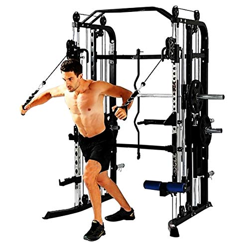 Functional Trainer & Smith Machine Combo – All in One – Commercial Grade – Ultimate Home Gym Machine – Complete Strength Solution – MiM USA SM+FT 1001 Pro