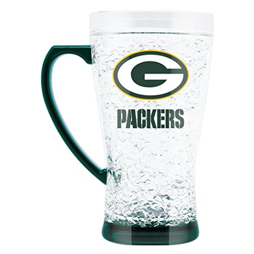 NFL Green Bay Packers 16oz Crystal Freezer Flared Mug