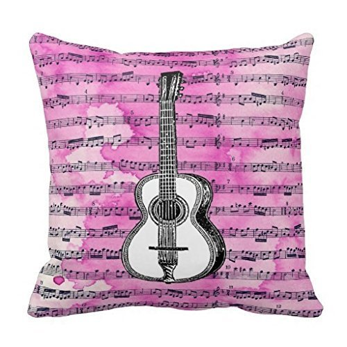 Rosa notas musicales guitarra personalizada cuadrado Custom ...
