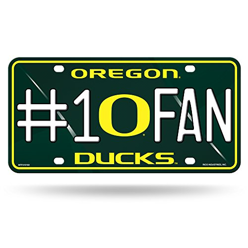 NCAA Oregon Ducks #1 Fan Metal License Plate Tag