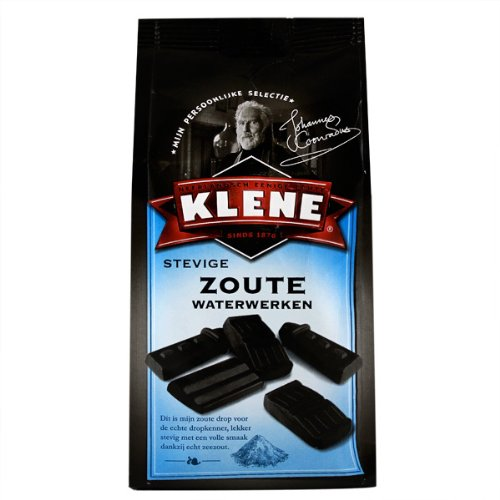 Hard and Salty Licorice 180g licorice pieces by Klene