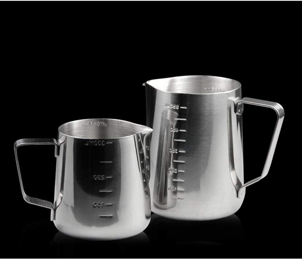 Lautechco Thicken Stainless Steel Measuring Cups Fancy Coffee Garland Tools Cup Fancy Coffee Measuring Cups with A Scale Measuring Cup (900ml)
