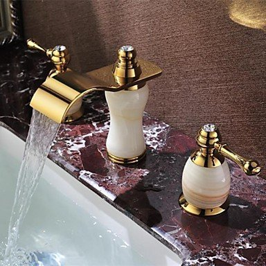 SEBAS HOME Basin Tap Antique Waterfall Brass Ti-PVD Bathroom Faucet Basin Mixer Tap