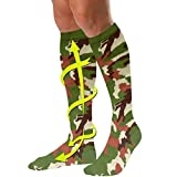 FootMatters Compression Socks Therapeutic Graduated Compression Knee High Camouflage Color 15-20 mm Hg Large W 10-14 M 9-13