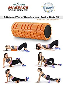 """Foam Roller for Physical Therapy, Myofascial Release & Exercise for Muscles with Soft Deep-Tissue Massage - Best for Stretching, Tension Release, Cramp Relief, Pilates & Yoga - 13"""" x 5"""", ORANGE"""