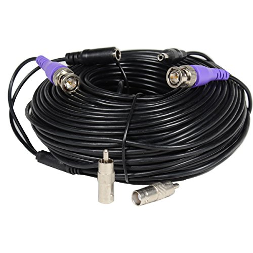 Security Camera Cables And Connectors : Videosecu ft hd video power security camera cable pre