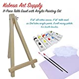 Kubesa Art Supply 11-piece Table Easel with Acrylic Painting Set