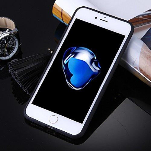 MXNET IPhone 7 Plus Fall, Mode Mädchen in Gelb und tragen Gläser Muster weichen TPU Schutzmaßnahmen zurück Fall Fall mit Quaste Anhänger CASE FÜR IPHONE 7 PLUS ( SKU : Ip7p1489a )