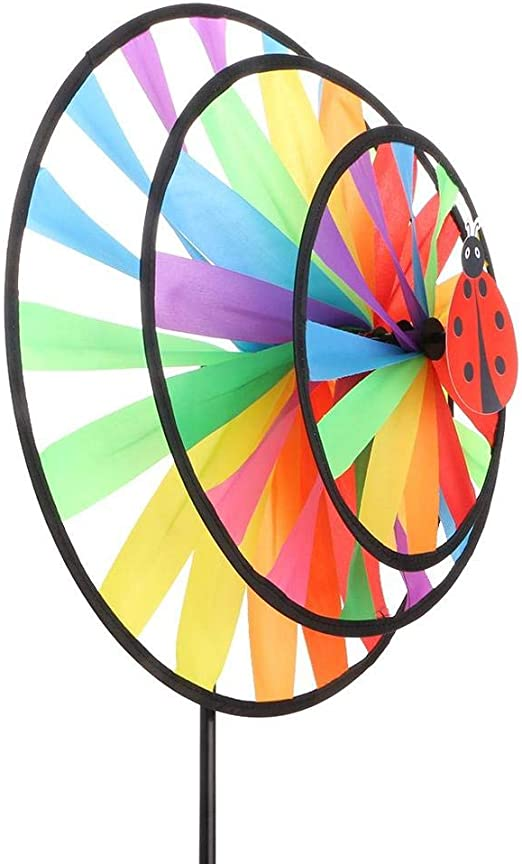 Uteruik Molinillo de Insectos, decoración de Molino de Viento, para Fiestas, jardín, espantapájaros y Lunares, 1 Unidad, Y-#1: Amazon.es: Hogar