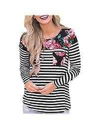 BIHSD Women's Maternity Nursing Casual Top Breastfeeding Shirt