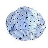Sunbona Fisherman Hat,Baby Boys Girls Stars Bucket Hat,Uv Sun Protective,Lightweight Breathable Helmet Caps (Blue)