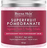 #8: Pomegranate Brightening Face & Body Scrub, by Buena Skin — Renews Your Skin's Youthful Radiance | Great For Dry Skin, Age Spots, Hyperpigmentation, Acne Flare-Ups and Acne Scars 10 oz