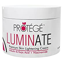 LUMINATE Skin Lightening Cream - Natural Skin Lightener Reduces Dark Spots and Age Spots + Uneven Skin Tone + Hyperpigmentation with Arbutin + Kojic Acid + Niacinamide (60 ml)