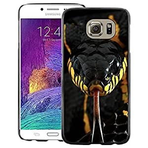 Red-Dwarf Colour Printing Snake Venom Poisonous Black Yellow - cáscara Funda Case Caso de plástico para Samsung Galaxy S6 SM-G920