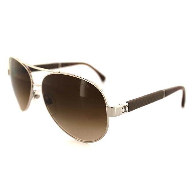 Gafas de Sol Chanel CH4195Q SILVER/ BROWN GRADIENT: Amazon ...