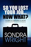 So You Lost Your Job Now What?, Sondra Wright, 1607498014