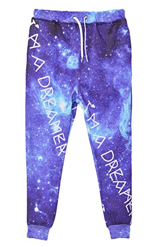 Westkun Men's Emoji Joggers Sweatpants/shirts Galaxy Blue Sportswear Gym Sport