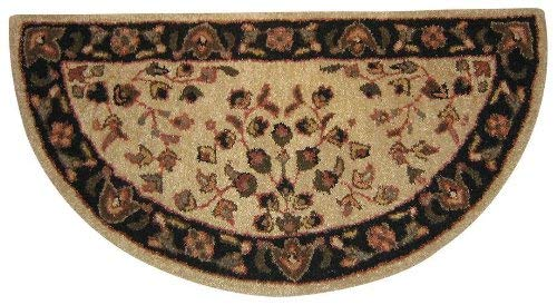 - Beige with Black Hand Tufted 100% Wool Rug