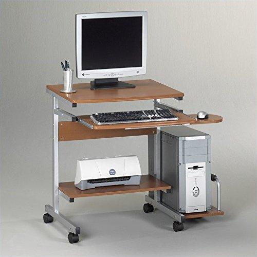 Cherry Mobile Computer Cart - MLN946MEC - Mayline Portrait PC Desk Cart Mobile Workstation