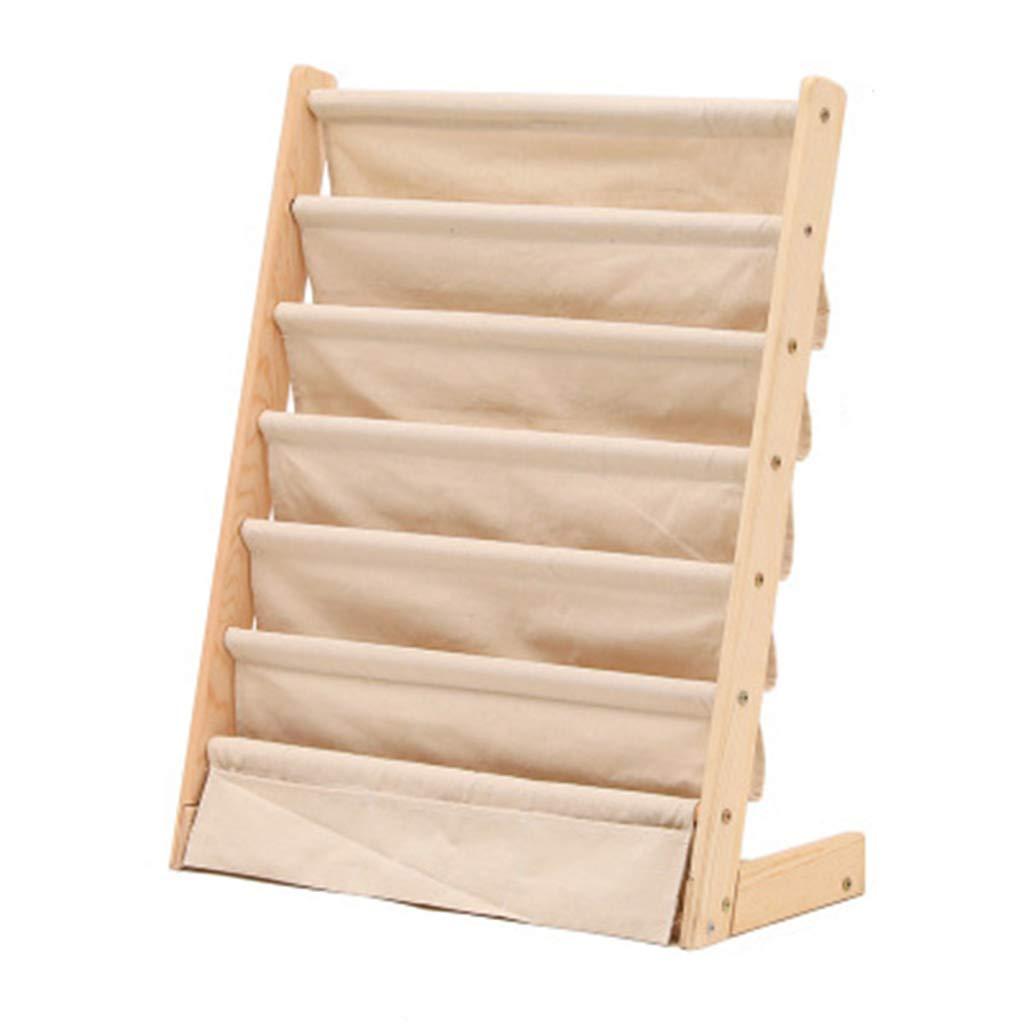 SYF ベージュシンプルな取り外し可能な本棚|家庭用子供の純木の床の棚|絵本ラックマガジンラック収納ラックラックマガジンラック A+ B07RHJMJKD