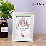 Huhgue Photo Frame 13×18cm Picture Frame Retro Style Poster Frame for Home Decoration (Green)