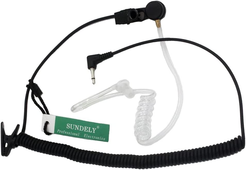 SUNDELY Universal Listen Only Acoustic Headset Earpiece for Motorola Radio HT1000 GP900 XTS5000 with 3.5mm Jack 122-951-0