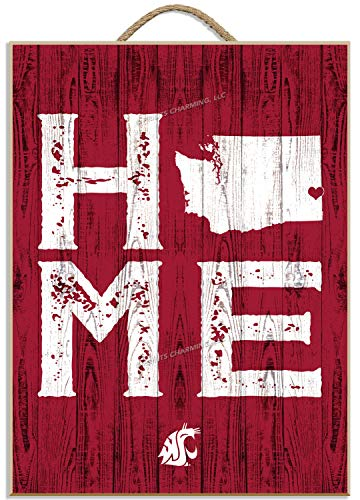 Prints Charming College Home Away from Home Vertical 12x16 Washington State Cougars Framed Posters 12x16 Inches