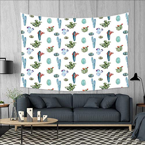 smallbeefly Cactus Tapestry Wall Hanging 3D Printing Waterco