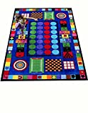 Kids World Carpets Game Times #2039 6'6'' x 8'4'' children's educational and play rug