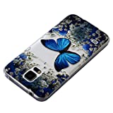 for Samsung Galaxy S5 Case, PHEZEN Elegant Blue