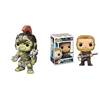 Pop! Marvel: Thor Ragnarok - Hulk Helmeted Gladiator Bundle with Pop! Marvel: Thor Ragnarok - Thor Gladiator Suit: Toys & Games