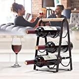 KINGRACK Countertop Wine Rack, Tabletop Wood Wine