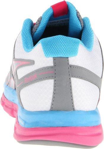 Reebok Dames Dual Turbo Fire Running Shoe Steel / Crisp Purple / Fearless Paars / Blauw Knipperlicht