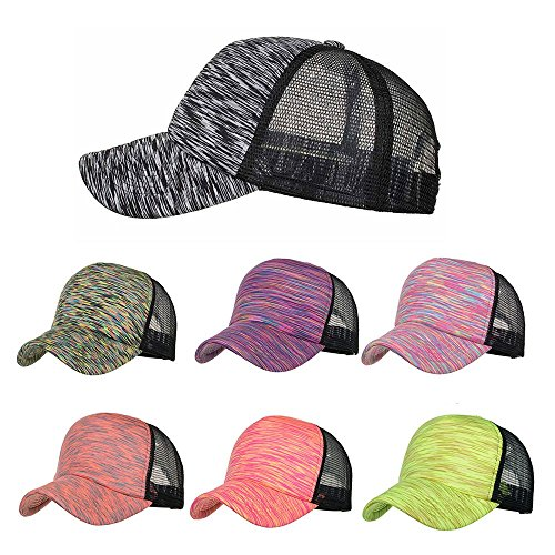 Greneral3 Summer Fashion Women Men Adjustable Colorful Stripes Baseball Hat Mesh Cap Shade
