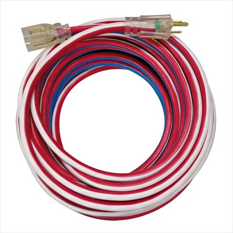 Voltec 05 – 00158 50 ft。延長コードwith Lighted ends44 ; 3線コネクタ – red44 ;ホワイト& blue44 ;ケースof 4 B0184LNZGW
