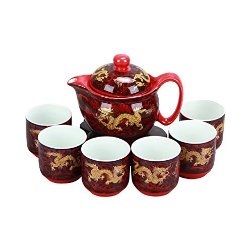dragon teapot set - 2