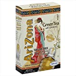 AriZona Green Tea with Ginseng Sugar Free Iced Tea Stix, Low Calorie Single Serving Drink Powder Packets, 10 Count (Pack of 12) 2 HAVE TEA, WILL TRAVEL: Everything you love about AriZona Iced Tea, now in convenient Stix you can take to go! AriZona Iced Tea Stix fit easily in your bag, purse or pocket. Add water for delicious Green Tea with Ginseng, any time or place in an instant DRINK SUGAR FREE: AriZona Iced Tea Stix are sugar free and sweetened with Splenda, for a big taste that's light on calories. Just tip a single-serving packet into a 16 or 20 ounce bottle of crystal clear water, screw the cap back on, shake well and enjoy! TRY EVERY FLAVOR: Start with our Green Tea, then branch out! Get fruity with Pomegranate, Peach, and Lemon Tea, or go half and half on an Arnold Palmer. Get amped with an AriZona Extra Strength Energy Shot, or take your drink to go with AriZona Iced Tea Stix