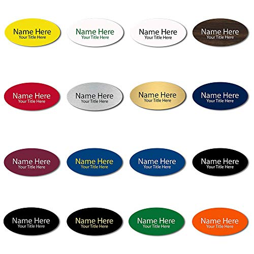 Oval Badge (Custom Engraved Name Tags - Oval Shaped 1.5