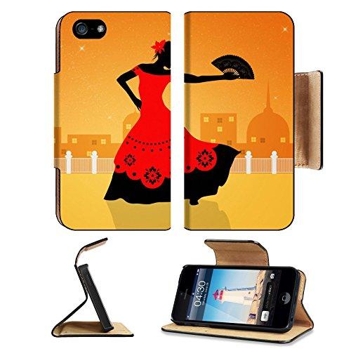 Flash Dance Latin Costumes (Liili Apple iPhone 5 iPhone 5S Pu Leather Flip Case Illustration of flamenco dancer iPhone5 Image ID 21730599)